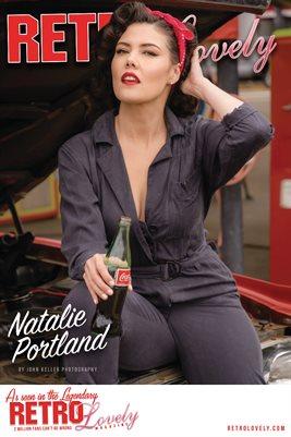 Retro Lovely No.158 – Natalie Portland Cover Poster