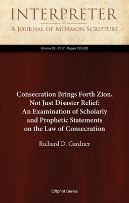 Consecration Brings Forth Zion, Not Just Disaster Relief