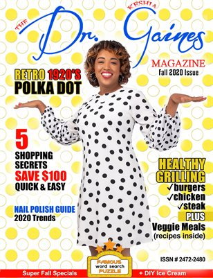 The Dr. Keshia Gaines Magazine- Fall 2020 +Breast Cancer Month Cover