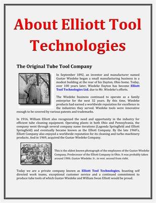 About Elliott Tool Technologies