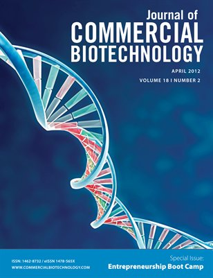 Journal of Commercial Biotechnology Volume 18, Number 2 (April 2012)