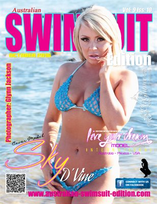 AUSTRALIAN SWIMSUIT EDITION MAGAZINE - Cover Model Sky D'Vine - October 2016