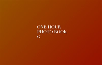 One Hour Photo Book G