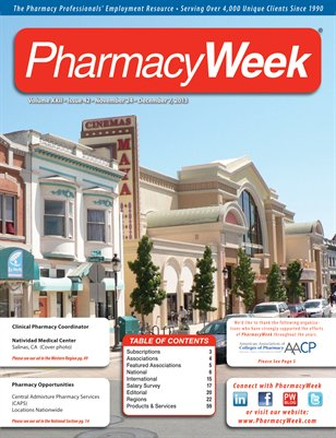 Pharmacy Week, Volume XXII - Issue 42 - November 24 - December 7, 2013