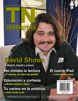 David Shook... Bigote, tequila y poesia