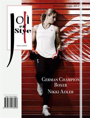 Joli En Style Magazine Champion Boxer Nikki Adler 2017