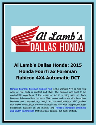 Al lamb 39 s dallas hon al lamb 39 s dallas honda 2015 for Al lamb honda