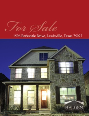 Haugen Properties -1596 Barksdale Drive Lewisville 75077