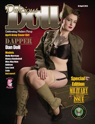 Delicious Dolls April 2013 Military Issue - Army Cover