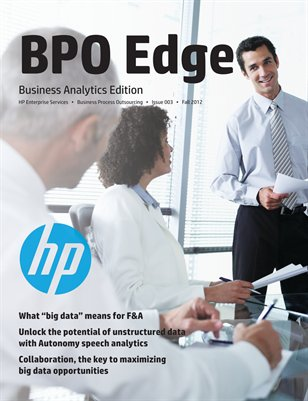 BPO Edge Issue 3 - Business Analytics (Fall 2012)