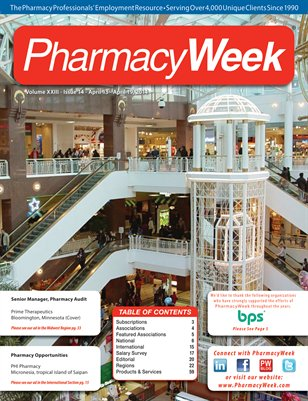 Pharmacy Week, Volume XXIII - Issue 14 - April 13 - April 19, 2014