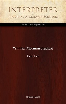 Whither Mormon Studies?