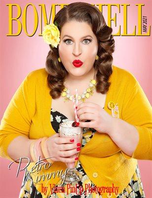 BOMBSHELL Magazine May 2021 BOOK 1 - Retro Kimmy Cover