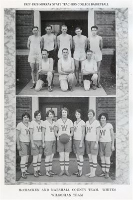 1927-1928 MURRAY STATE TEACHERS COLLEGE BASKETBALL TEAMS: MCCRACKEN & MARSHALL