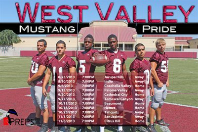 West Valley Schedule