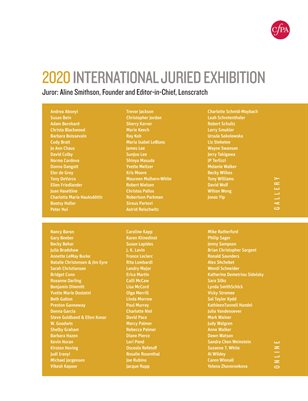 CPA 2020 International Jury Exhibition