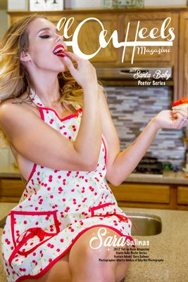 Hell on Heels Magazine Santa Baby Poster Series Model Sara Salinas