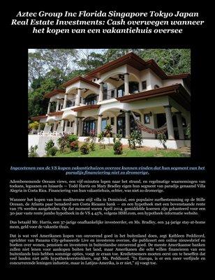 Aztec Group Inc Florida Singapore Tokyo Japan Real Estate Investments