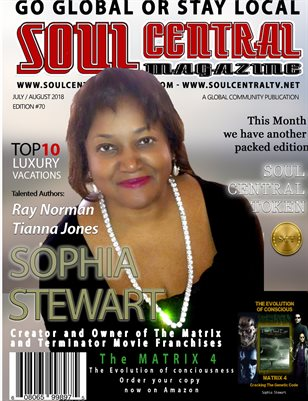 Soul Central Magazine #Edition #70 Author Sophia Stewart