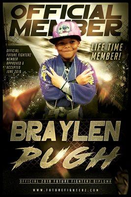 Braylen Pugh Gold Diploma Poster