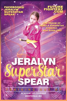 Jeralyn Spear Superstar Quote Poster