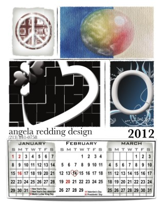 angela redding design 2012 Calendars