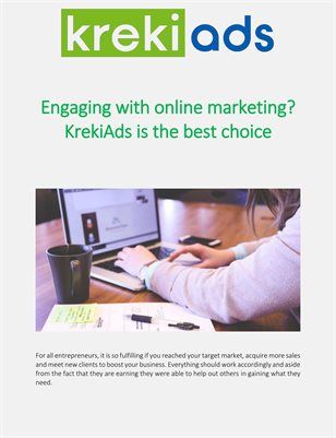 Engaging with online marketing? KrekiAds is the best choice