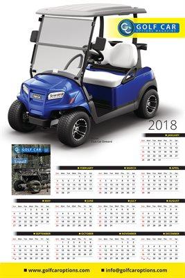2018 Golf Car Poster/Calendar