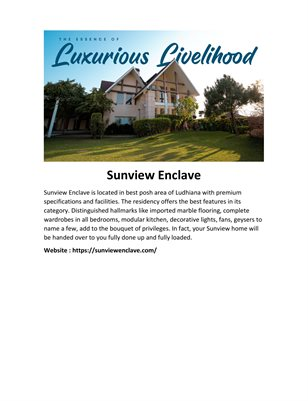 Residential Plots in Ludhiana - Sunview Enclave