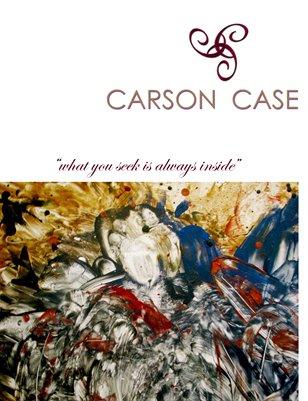 """What you seek is always inside"" - Carson Case Art Book 2012"