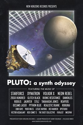 PLUTO: A Synth Odyssey - Release Poster (Black Version)