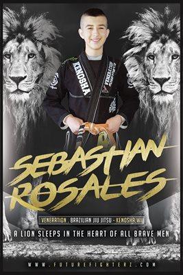 Sebastian Rosales Black N White Lion Poster