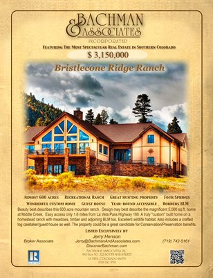 Bristlecone Ridge Ranch 2-page brochure
