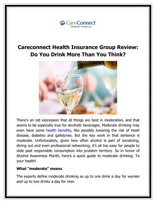 Careconnect Health Insurance Group Review: Do You Drink More Than You Think?