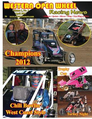 Western Open Wheel Racing News - April 2013 Volume 1 No. 2