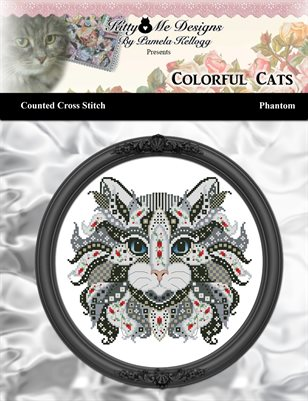 Colorful Cats Phantom Counted Cross Stitch Pattern