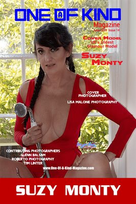 ONE OF A KIND MAGAZINE COVER POSTER - Cover Model Suzy Monty - June 2019