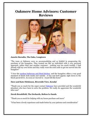 Oakmere Home Advisors: Customer Reviews