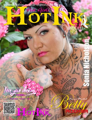 HOT INK MAGAZINE - Cover Model Betty Rocker - June 2016