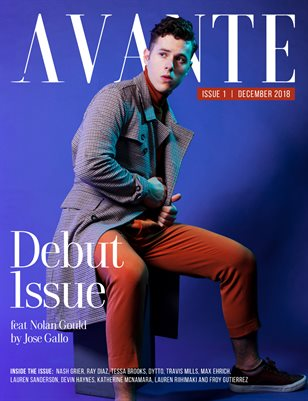 Avante Debut Issue: Nolan Gould Cover