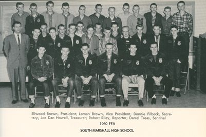 1960 FFA AT SOUTH MARSHALL HIGH SCHOOL, MARSHALL COUNTY, KENTUCKY