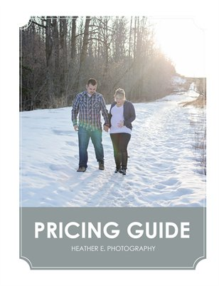 Heather E. Photography Pricing Guide