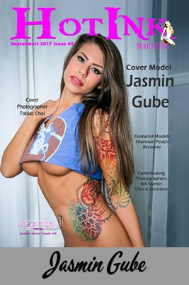 HOT INK MAGAZINE COVER POSTER - Cover Model Jasmin Gube - September 2017