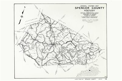 SPENCER COUNTY, KENTUCKY MAP