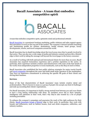 Bacall Associates - A team that embodies competitive spirit