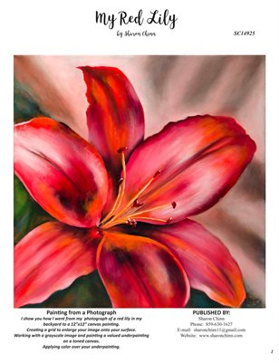 My Red Lily by Sharon Chinn - SC14925