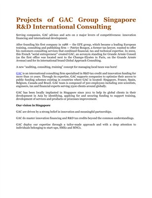Projects of GAC Group Singapore R&D International Consulting