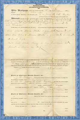 1892 Mortgage, J.J. Alexander-B.W. Jones & Pete Taylor, Graves County, Kentucky