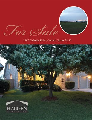 Haugen Properties -  2107 Clubside Drive, Corinth, Texas 76210