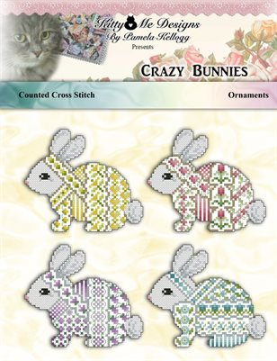 Crazy Bunnies Ornaments Cross Stitch Pattern